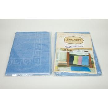 Коврик для ванной Swan 50*70 см голубой Light Blue