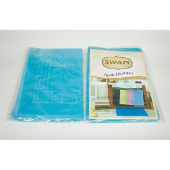 Коврик для ванной Swan 50*70 см бирюзовый Medium Turquoise