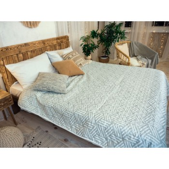 Одеяло-покрывало Leleka-textile Евро 200*220 см микрофибра/холлофайбер стеганое летнее М14