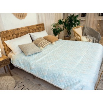 Одеяло-покрывало Leleka-textile двуспальное 172*205 см микрофибра/холлофайбер стеганое летнее М22