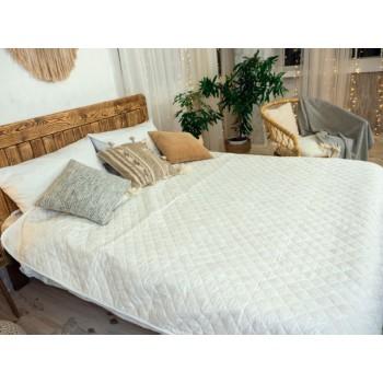 Одеяло-покрывало Leleka-textile двуспальное 172*205 см микрофибра/холлофайбер стеганое летнее М23