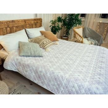 Одеяло-покрывало Leleka-textile двуспальное 172*205 см микрофибра/холлофайбер стеганое летнее М24