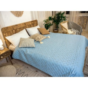 Одеяло-покрывало Leleka-textile двуспальное 172*205 см микрофибра/холлофайбер стеганое летнее Т13