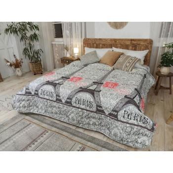 Одеяло-покрывало Leleka-textile двуспальное 172*205 см поликоттон/холлофайбер стеганое летнее П701