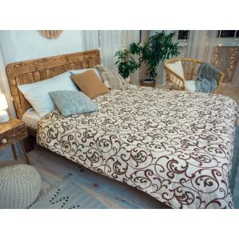 Одеяло-покрывало Leleka-textile двуспальное 172*205 см поликоттон/холлофайбер стеганое летнее П765