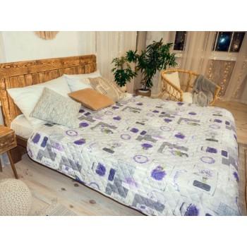 Одеяло-покрывало Leleka-textile двуспальное 172*205 см поликоттон/холлофайбер стеганое летнее П769