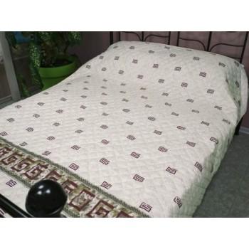 Одеяло-покрывало Leleka-textile полуторное 140*205 см поликоттон/холлофайбер стеганое летнее П781