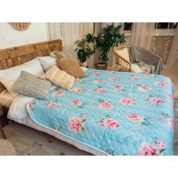 Одеяло-покрывало Leleka-textile двуспальное 172*205 см поликоттон/холлофайбер стеганое летнее П789