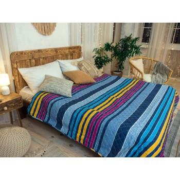 Одеяло-покрывало Leleka-textile двуспальное 172*205 см поликоттон/холлофайбер стеганое летнее П796