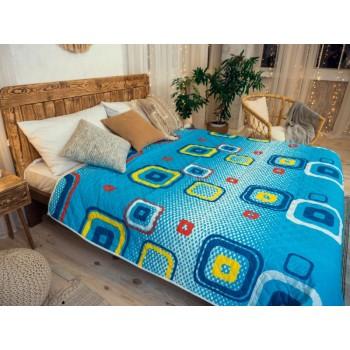 Одеяло-покрывало Leleka-textile Евро 200*220 см поликоттон/холлофайбер стеганое летнее П797