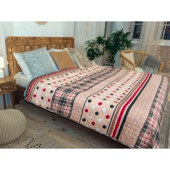 Одеяло-покрывало Leleka-textile двуспальное 172*205 см поликоттон/холлофайбер стеганое летнее П802