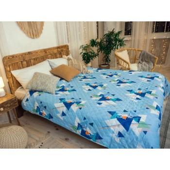 Одеяло-покрывало Leleka-textile двуспальное 172*205 см поликоттон/холлофайбер стеганое летнее П804