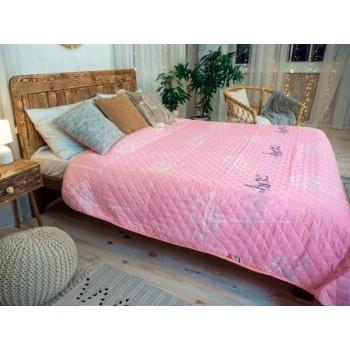 Одеяло-покрывало Leleka-textile Евро 200*220 см поликоттон/холлофайбер стеганое летнее П811