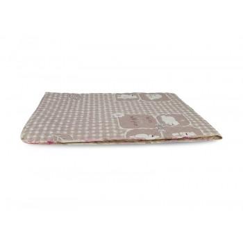 Одеяло-покрывало Leleka-textile полуторное 140*205 см поликоттон/холлофайбер стеганое летнее П817