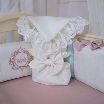 Плед-конверт Маленькая Соня Elegance 80*80 см сатин детский молочный арт.154535