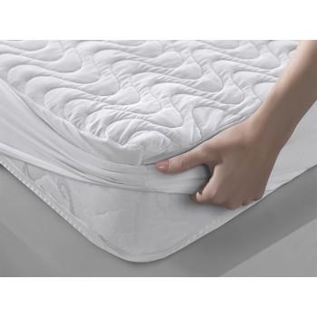 Наматрасник Leleka-textile Хмаринка 160*200*23 см хлопок/антиаллергеное волокно с бортами