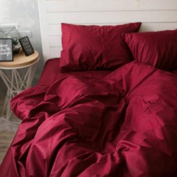 Наволочка на подушку Хлопковые традиции 50*70 см поплин бордо 2шт арт.PF02