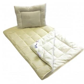 Комплект Billerbeck Бамбино детский одеяло 110*140 см и подушка 40*55 см трикотаж/овечья шерсть облегченное арт.0109-14/00
