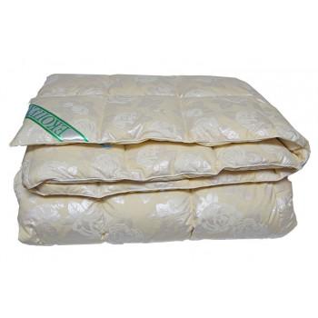 Одеяло Экопух 50 двуспальное 172*205 см тик/50%-пух/50%-гусиное перо пуховое стеганое теплое