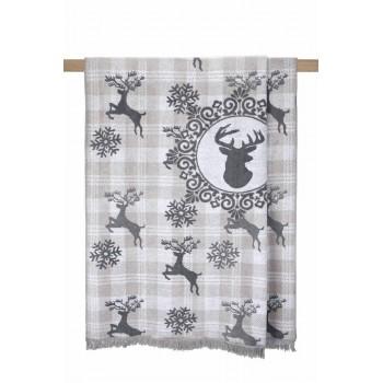 Плед Arya Deer полуторный 150*200 см хлопковый арт.TR1005193