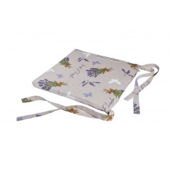 Подушка на табурет LiMaSo Серая лаванда 40*40 см хлопковая арт.LVS06.40x40