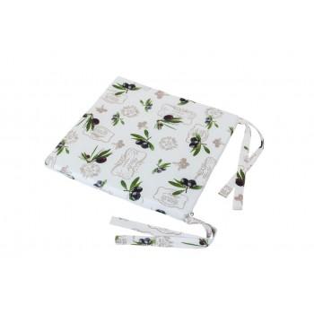 Подушка на табурет LiMaSo Оливки 40*40 см хлопковая арт.OL06.40x40