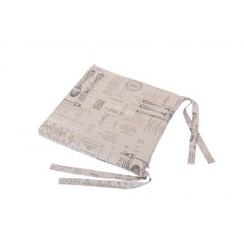 Подушка на табурет LiMaSo Вилка-ложка 40*40 см хлопковая арт.VL06.40x40