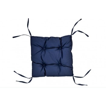 Подушка на табурет Dotinem Color 40*40*5 см синяя арт.213109-2