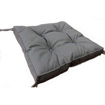 Подушка на табурет Dotinem Color 40*40*5 см серая арт.213109-3