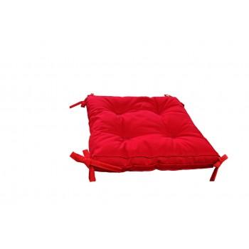 Подушка на табурет Dotinem Color 40*40*5 см красная арт.213109-4