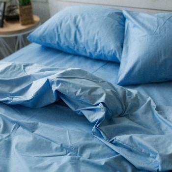 Пододеяльник Хлопковые традиции двуспальный 175*215 см поплин голубой арт.PF04
