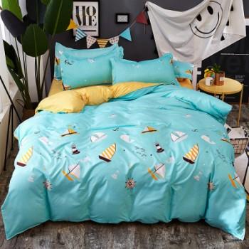 Комплект постельного белья Homytex двуспальный поликоттон подростковый Boat арт.8-2106