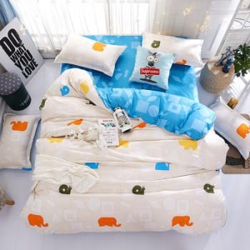 Комплект постельного белья Homytex двуспальный поликоттон подростковый Bright elephants арт.8-2107