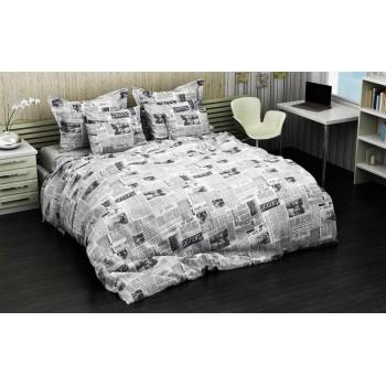 Комплект постельного белья Соня полуторный бязь подростковый Газеты арт.1018