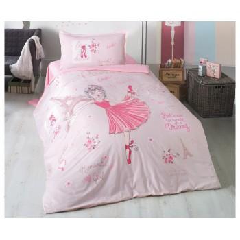 Комплект постельного белья Clasy Ranforce полуторный ранфорс подростковый арт.Romantic Girl