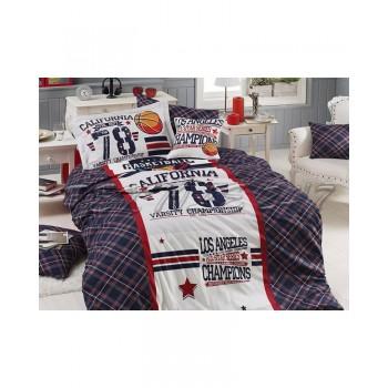 Комплект постельного белья First Choice Ranforce Deluxe 3D полуторный ранфорс подростковый арт.All Star