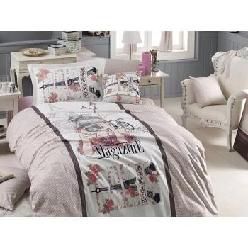 Комплект постельного белья First Choice Ranforce Deluxe 3D полуторный ранфорс подростковый арт.Magazine