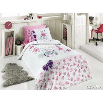 Комплект постельного белья First Choice Ranforce полуторный ранфорс подростковый арт.Clara