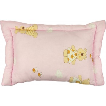 Подушка детская Руно 40*60 см бязь/силиконовые шарики розовая арт.309.02СЛУ_рожевий