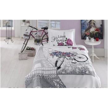 Покрывало с наволочкой First Choice Carnival Bisiklet полуторное 180*240 см + наволочка 50*70 см гобеленовое подростковое арт.Bisiklet