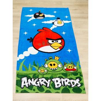 Полотенце пляжное Турция Angry Birds 75*150 см детское