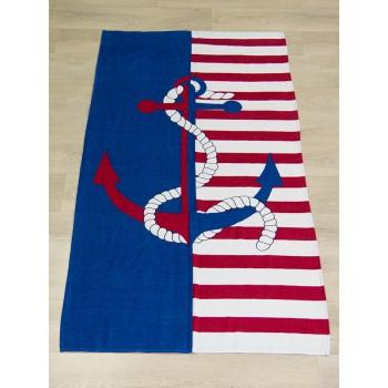 Полотенце пляжное Турция Anchor Stripes 75*150 см