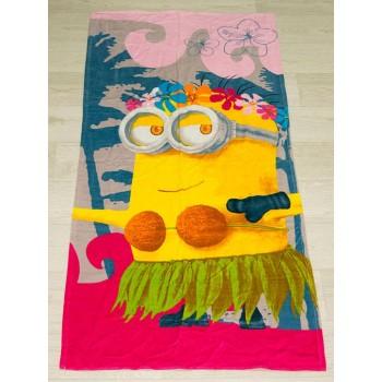 Полотенце пляжное Турция Minion Girl 75*150см детское
