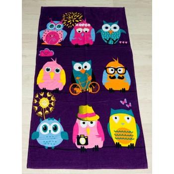 Полотенце пляжное Турция Owls 2 75*150см детское