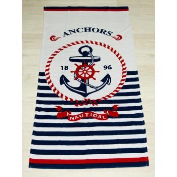 Полотенце пляжное Турция Anchors 1896 nautical 75*150 см
