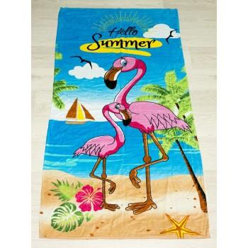Полотенце пляжное Турция Flamingo 75*150 см