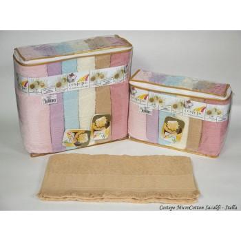 Набор полотенец для лица Cestepe MicroCotton Deluxe 50*90 см махровые банные Stella Sacakli 6шт