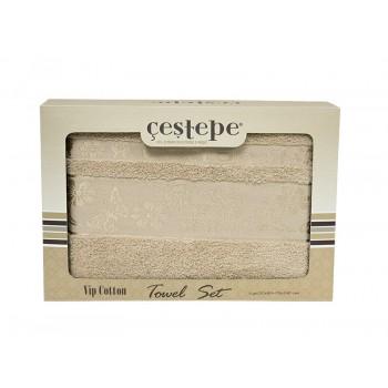 Набор полотенец для лица и тела Cestepe Cotton 50*90 см + 70*140 см махровые банные в коробке 2шт