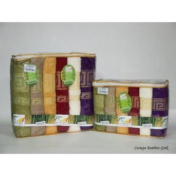 Набор полотенец для лица Cestepe Bamboo 50*90 см бамбуковые банные Grek 6шт