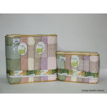 Набор полотенец для лица Cestepe Bamboo 50*90см бамбуковые банные Pamira 6шт